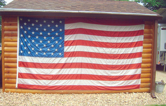 Always full of patriotic spirit in Donnelly. Shared by Gail Kloos.