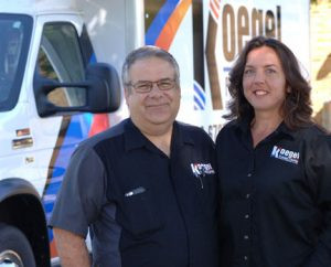 Kurt and Dana Koegel pride themselves on professional service and specialize in large and small hydronic heating systems (boilers), bathroom remodels and cabin openings and closings. Photo by Jim Palmer
