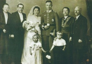 Ursula is a flower girl for her aunt Hanneliese and uncle Jacob. Her uncle is wearing the uniform for Hitler's Nazi regime. Contributed photo
