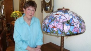 Katherine Hall, at the youthful age of 89, continues creating stained glass lamps at her home in Baxter, a talent she pursued after she retired in the 1980s. She is also an avid painter and started taking painting lessons at the age of 84.