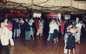 "A typical dance at the ""old"" ballroom, before the fire in 2003."