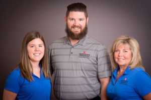 The HealthSource/LFLC team includes (L to R) Rachel Smith, Dr. Adam Fink and Jill Borg. Contributed photo