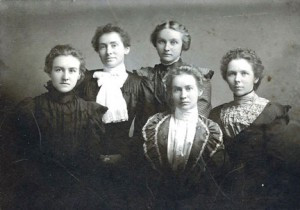 "A photo of the Jensen sisters from Osakis Township, Douglas County, was in a box of old letters and photos from Minnesota that a woman in Denmark (Helle) had inherited from her great-aunt. Using clues found in the letters, she contacted the Douglas County Historical Society, trying to find out what happened to the family, her ""American cousins."" It was a successful search. Contributed photo"