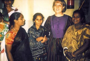 Karen Prischmann, of Fergus Falls, on her first trip to India in 1990.    Contributed photo