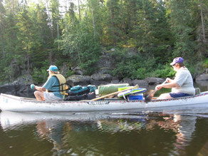 Just canoes and paddles… on 'vacation?'