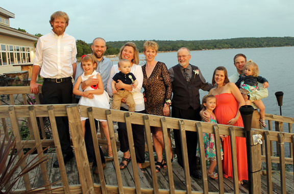 Brenda and Udean Sargent and their family at Lakeside Ballroom in Glenwood this summer. Contributed photo