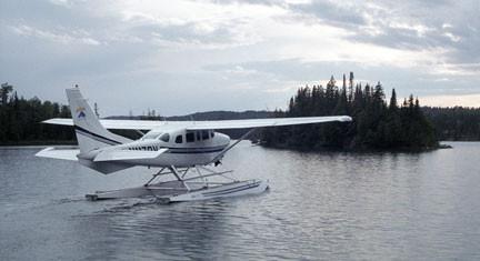 Seaplane taking off from Windigo, Isle Royale National Park, MI. Photo by Bob Walker.
