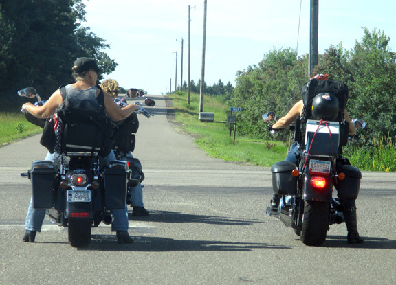 The one big thing that brings all these ladies together is the love to ride. Here are a few of the members hitting the open road. Contributed photo