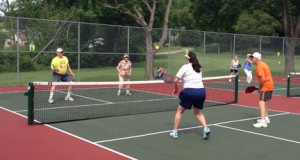 A pickleball court is much smaller than a tennis court but still gives participants a good workout. Contributed photo