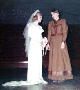 Ann and Annette even performed together on stage in high school plays, as seen here. The two were in band and choir together and both loved music and theater. Contributed photo