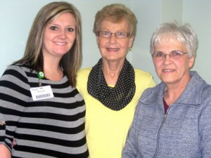 Melissa Maranell (left), social worker for Marshall Avera who sometimes facilitates the support group. Also pictured are Robin Moon and Karen Hurst, both of Marshall. Both have spouses affected by Alzheimer's. Contributed photo