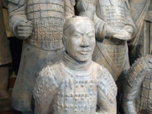 "The ""terracotta warriors"" are nearly 6 feet tall with details from head to toe. They were all buried next to the emporer's tomb. The warriors were discovered in 1974. Contributed photo"