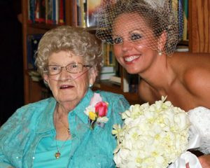 Phyllis Levitz and her granddaughter Jessica Thrasher at Thrasher's wedding. Levitz was able to attend the wedding thanks to the Sentimental Journey program. Contributed photos