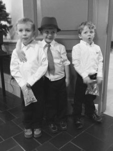My grandson, Gabriel Lee, at a Christmas program in 2015. He is the one in middle with the tie and hat. Contributed photos