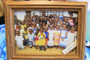 Children from Liberia, Africa proudly wear their girl dresses and boys shorts that were sent to them from New Ulm. Photo contributed