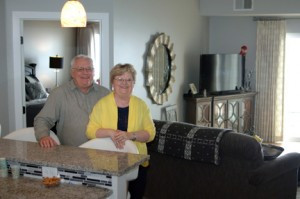 Larry and Ann Stensrud have been very happy with their choice to move into The Pearl. Both worked all of their adult life and enjoy the worry-free living. Photo by Jim Palmer
