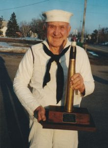 Ralph with a 44 mm, a shell he was familiar with in the service. Contributed photo