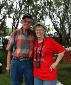 Mike and Sandy Buesing started the threshing tradition many years ago. Contributed photo