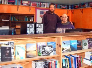 Curtis Weinrich and Corinne Dwyer pictured with some of their published books. Photos by Scott Thoma