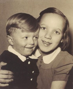 Ursula with her brother Jorge. Contributed photo