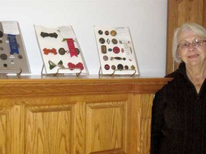 Button collection sewed to history