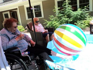 Residents at The Garden House decide what they want to do each day. A few of the activities include helping in the kitchen to gardening to relaxing in the shade with their feet in a pool.  Contributed photo.
