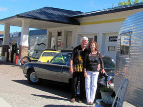 Couple retires … to an old gas station