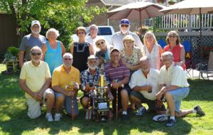 The 40th annual Croquet Roquet International tournament included (back L to R) Roger and Laurie Denbrook, Shirlee Gruber, Kurt Ronning, Mary Lee (with dog Stella), Jim Johnson, Patty Bearfield, Colleen Lanes and Connie Hausmann. In the front row are (L to R) Cliff McLain, Keith Gruber, John Lee, Dan Bearfield, Tom Lanes and Dave Hausmann. This year's champion was John Lee of of Brandon, S.D. Photo by Jim Palmer