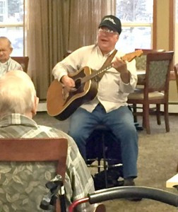Virg Litke, who performs for the tenants at Highland Senior Living. Contributed photo