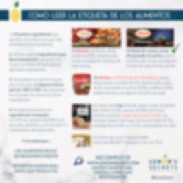 Como leer la etiqueta de los alimentos | Lemon' Secrets