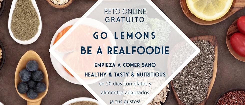 Reto Empieza a comer sano GOLemons & BE A REAL FOODIE