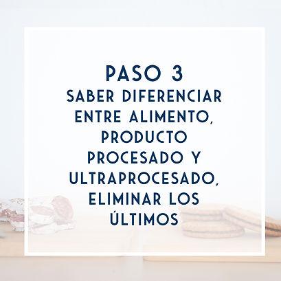 Saber diferencias entre limento, prcesado y UP