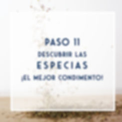 PASO 11- Incorporar especias