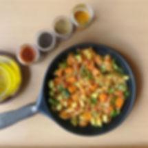 Salteado de hortalizas de temporada y especias ¡picantes a lo mejicano!