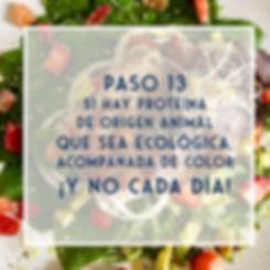 PASO 13 - Reducir el consumo de carne y alternar