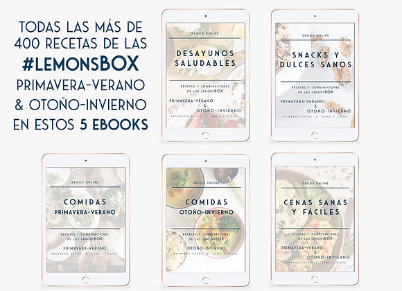 Pack Ebooks Desayunos, Comidas, Cenas y Snacks