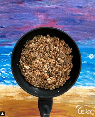 Granola casera a la sartén