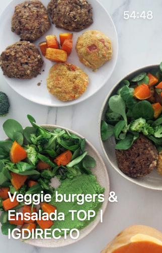Veggie burgers & Ensalada TOP | IGDIRECTO