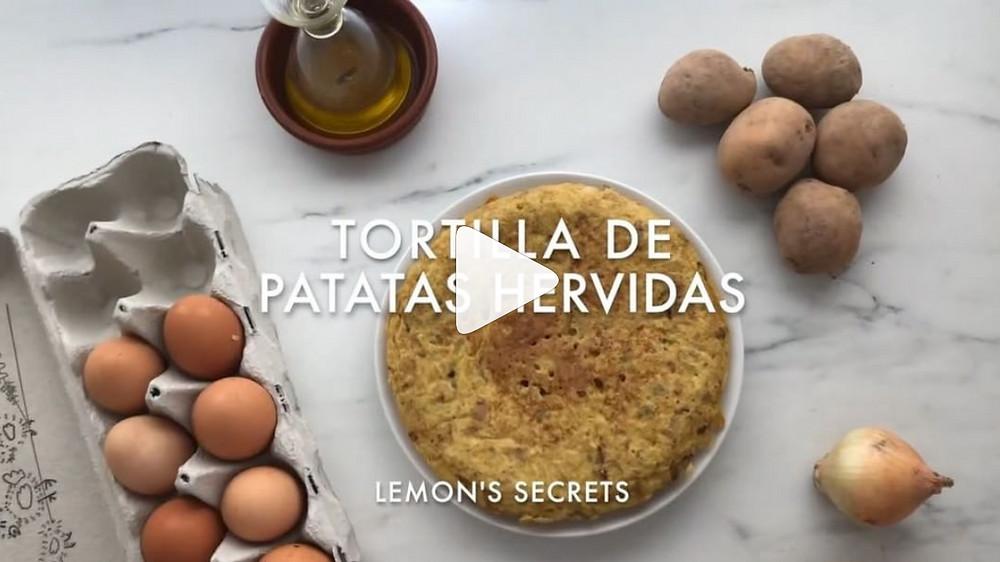 Vídeo Receta Tortilla de patatas hervidas