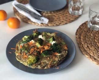 Quiche en costra de quinoa