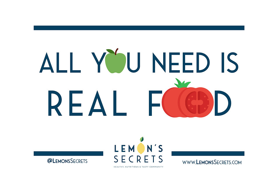 All you need is real food | Lemon's Secrets