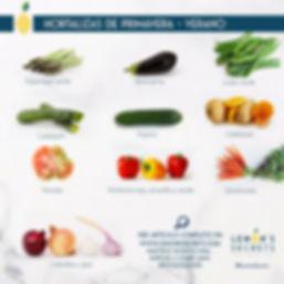 Hortalizas Primavera - Verano | Lemon's Secret | Infogafría
