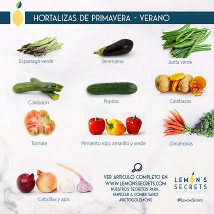 Hortalizas Primavera - Verano   Lemon's Secret   Infogafría
