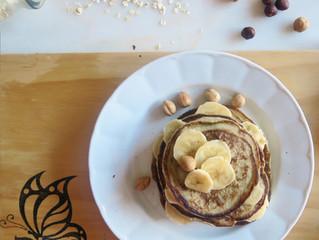 Pancakes de copos de avena y huevo