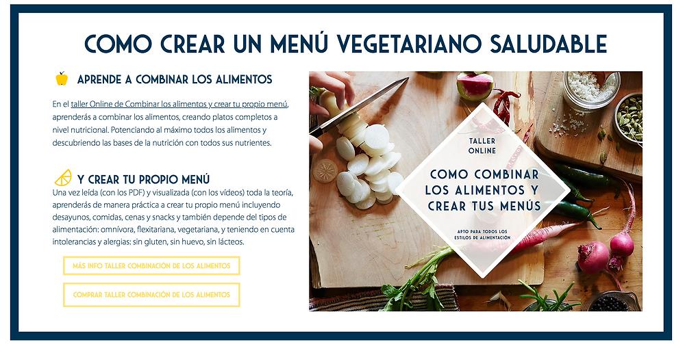 Taller Online Combinación de los alimentos