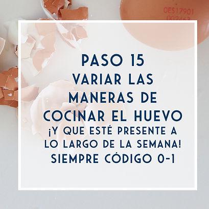 PASO 15 - Huevos código 0 y semanalmente