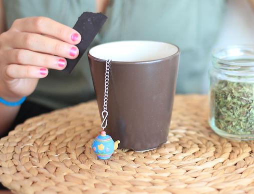 Chocolate negr y té verde