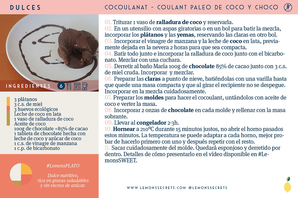 Cocoulant | Coulant paleo de coco y chocolate