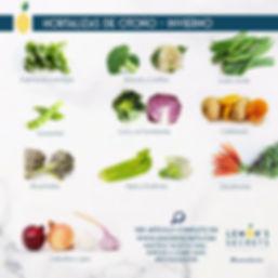 Hortalizas Otoño - Invierno | Lemon's Secret | Infografía