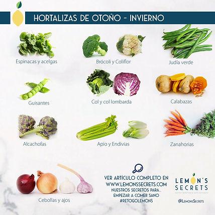 Hortalizas Otoño - Invierno   Lemon's Secret   Infografía